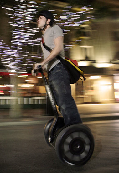 Der Segway i2 Personal in Aktion