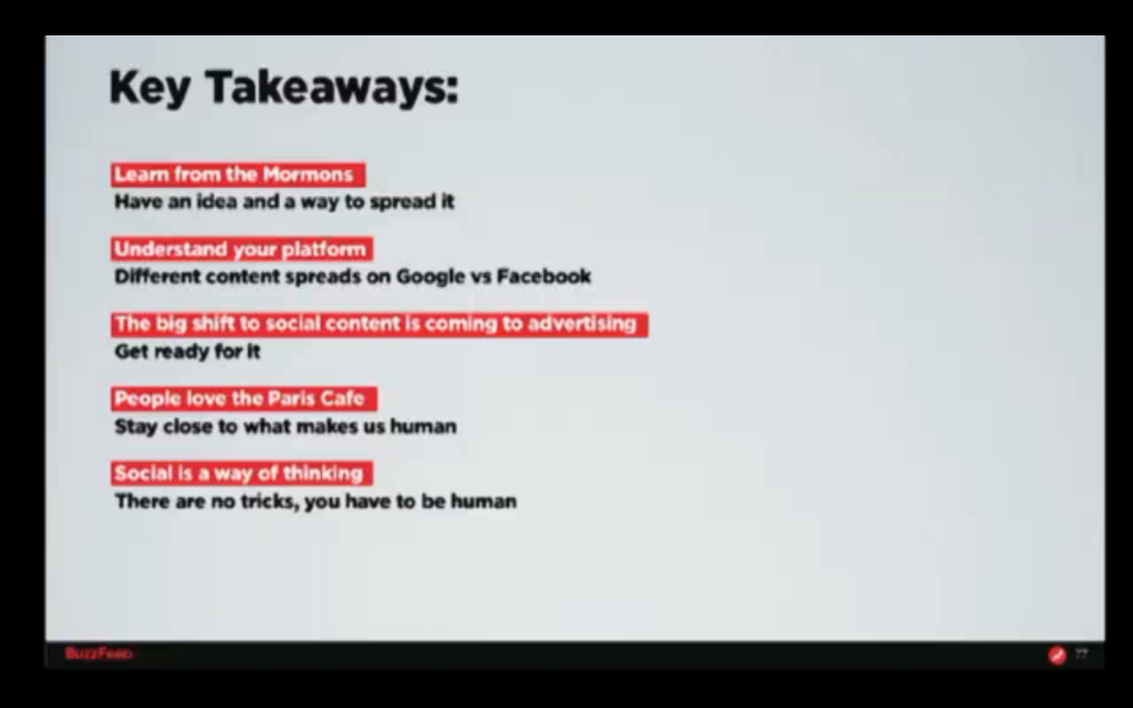 Jonah Peretti Key Take-Aways From His Talk at the Changing Media Summit 2013